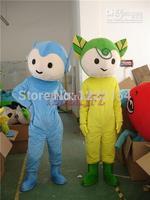 Hot sale 2014 Adult cute  couple leaves Mascot costume Cartoon Costume Halloween Christmas Costumes