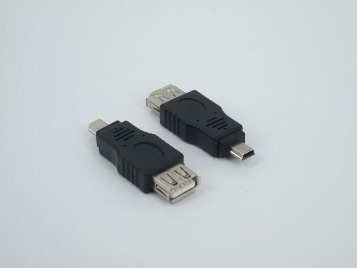 By DHL 300pcs/lot USB Adapters 2.0 Female to Mini 5 Pin Male Convertors USB 2.0 Convertors OTG Adapter Free Shipping(China (Mainland))