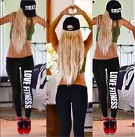 2014 New fitness Workout Leggings Women's Pencil Fitness Work out STATEMENT Blogger Alphabet print Pants sports leggings women