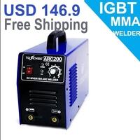 Zhejiang machine or portable 200A arc welder 220v 3.2MM WELDING ROD 200A all accessories