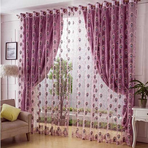 Online Get Cheap Peacock Curtain Fabric