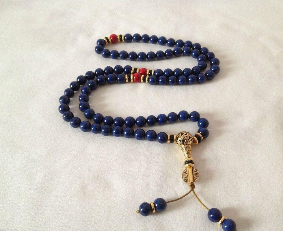 China tibetano Lapis budista buddha preocupação oração talão mala pulseiras colar(China (Mainland))