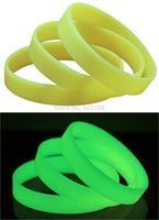 Blank wristbands glow in the dark , glow in the dark bracelets