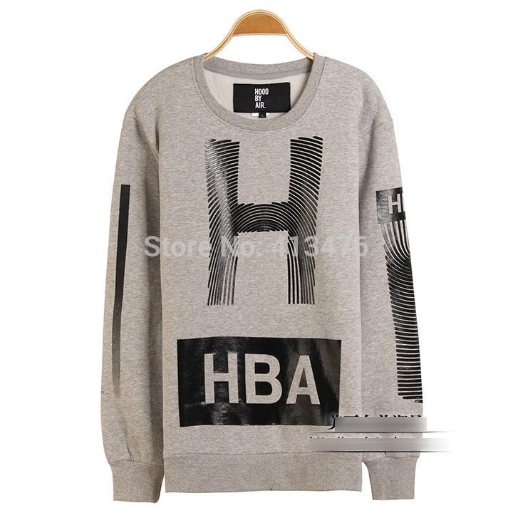 hip hop 2014 hba outerwear homens pullover moleton capô por ar capuz camisolas clássicos impressão offset algodão velo roupas de marca(China (Mainland))