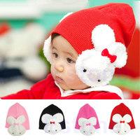 Free Shipping Baby Toddler Kids Boys Girl Winter Ear Flap Warm Hat Beanie Cap Crochet Rabbit