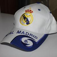 Real Madrid white adult fans cap / football team fans visor outdoor baseball hat