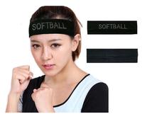 (6 pieces/lot) Rhinestone Cotton Stretch Headbands with Crystal Softball