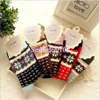 Christmas Snowflake Sock Winter Warm Thick Womens Wool Ankle Socks Soft