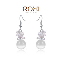 ROXI  Wholesale White Gold Plated Austrian crystal Drop Earring fashion jewelry  2014103159