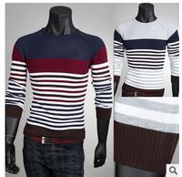 Slim new winter men's casual striped sweaterKB678