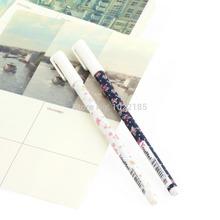 1 pcs coreano papelaria forma fresco flor 0.5 mm Gel caneta de tinta caneta neutro nova(China (Mainland))