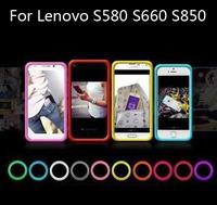 The multi-function bracelet bumper case ,silicone Anti-knock ring case  for Lenovo S580 S660 S850,gift