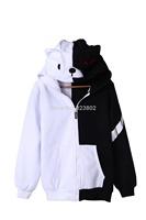 Dangan Ronpa Bear Monokuma Cosplay Sweater For Men or Women Thick Unisex Hoodies Autumn and Winter Hooded Sweat Shirt