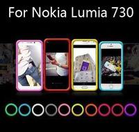 The multi-function bracelet bumper case ,silicone Anti-knock ring case  for Nokia Lumia 730,gift