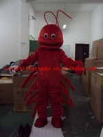 New 2014 Adult cartoon character lovely big shrimp Mascot Costume fancy dress party costumes adult size