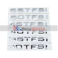 10 sets Metal Chrome Black 30 35 40 45 50 55 TFSI Badges Emblem