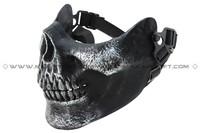 Wholesale CACIQUE Skull Half Face Paintball Mask v3 (Silverish Black) free ship
