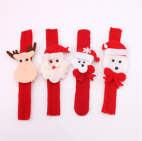 360pcs/lot Factory Supply Santa snowman Pat Circle Wrist Bracelet Decorated Christmas Gifts