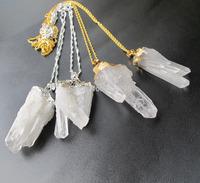 """Mystic Natural clear quartz necklace with 18""""chain,quartz druzy jewelry necklace 5pcs/lot"""