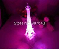 2014 New Colorful LED night light romantic ideas Eiffel Tower European Nightlight crafts creative Christmas birthday gift