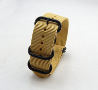 MILITARY ZULU HEAVY DUTY 5 RING STAINLESS WATCH STRAP 18mm 20mm 22mm