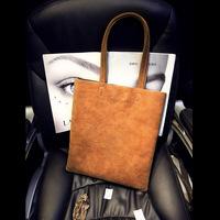 Hot Sale Nubuck Leather Large Vertical Women Handbag Brief Casual Shoulder Bags High Quallity Shopping Bag Tote Desigual Bolsas