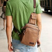 Men's small chest bag male Korean version of shoulder riding sport canvas Messenger bag men shaft square City boy casual