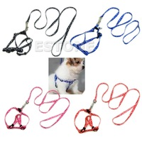 M65 Free Shipping Small Dog Pet Puppy Cat Adjustable Nylon Harness with Lead leash