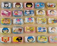 Kawaii cartoon Hello kitty Doraemon plastic eyewear contact lenses color case lens Companion container box with mirror