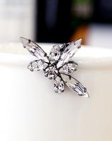 new fashion 2014 shining crystal gem clip earring for women all match bling bling crystal earring