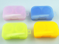 Free Shipping Retail solid color eyewear accessories 3.4*6.6*1.7CM Contact Lenses Box & Case/Contact lens Case Promotional Gift