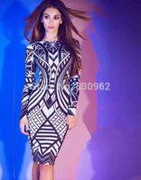 Rayon nylon floral printing sheath long sleeve sexy dress