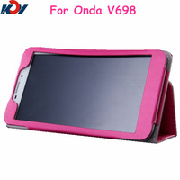 High Quality Silk Series Leather Case for ONDA V698 7 inch Quad Core Tablet PC Protective Shell Skin Four Colors Free shipping