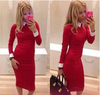 9790 free shipping 2014 fashion women dresses casual women's sexy dress long dresses vestidos