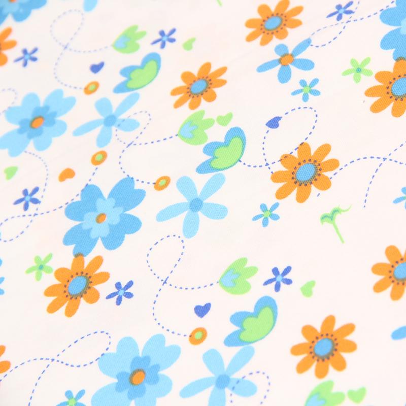 100% Cotton Spandex Super Soft Knitted Fabric, Baby Cloth Bibs Cotton Jersey Fabric, Cartoon Printed Children Garment Tissue Z02(China (Mainland))