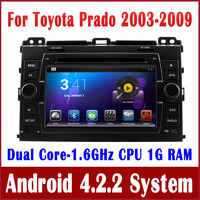 Android 4.2 Car GPS Navigation DVD Player for Toyota Prado Land Cruiser 120 2003-2009 with Radio BT CD MP3 TV WIFI Tape Recorder