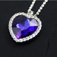 Titanic Heart Of The Ocean Necklace Pendant Sapphire Blue Crystal LP-403