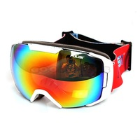 2014 New POLISI Snowboarding Skiing Snowmobiling Goggles Helmet Compatible Professional UV400 Anti-Fog Glasses Eyewear