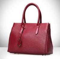 fashion women bags Genuine leather bag women rippling leather handbags woman shoulder tote bags vintage handbag 2015 new