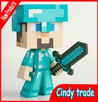 Minecraft toys Steve JJ strange / coolie afraid / doll hand to do action figure Free shipping ak129