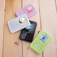 Original AiEK M6 Mini Wallet Pocket Mobile Phone Low-Radiation MSM GSM MP3 Player MP4 Internet FM Bluetooth Z#