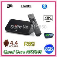 Ubox R89 RK3288 Quad Core Android Tv Box 2G RAM 8G XBMC 4K H.265 Ultra HD Set Top Box Android 4.4 Media Player Smart Mini PC
