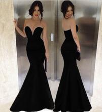 Nueva Negro formal del partido largo elegante Fishtail sirena vestido de noche de baile vestido de las mujeres de vuelta corss Vestidos Renda vestido maxi de(China (Mainland))