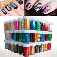 Beauty 20 Designs New Fashion DIY Nail Roll Colorful 5PCS/Set 120cm*4cm Nail Art Transfer Craft foil sticker Foil Nail Tip