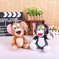 "Cartoon Tom and Jerry Soft Stuffed Dolls Plush Toys Kids Toys 9"" 23CM 2pcs/lot"
