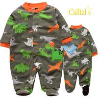 FREE SHIPPING NWT Baby Long Sleeve Sleepwear / Romper Dinosaur future MVP 3~12months (4001)