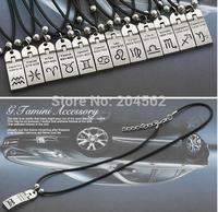 The Zodiac Necklace Pendants, Titanium Steel Stainless Steel Skin Chain   Diamond Necklace