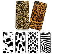 New fashion luxury Korean style milk Zebra Leopard PC hard case cover for iphone 4 4S 5 5S 5C 6 plus 4.7 5.5 phone case