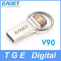 Eaget V90 16G/32G/64G USB 3.0 Flash Drive Smartphone OTG U Disk Dual Plug High Speed Waterproof Encryption UDP for Phone Tablet