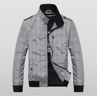 2014 New Arrival men fashion easy-care jacket grid coat